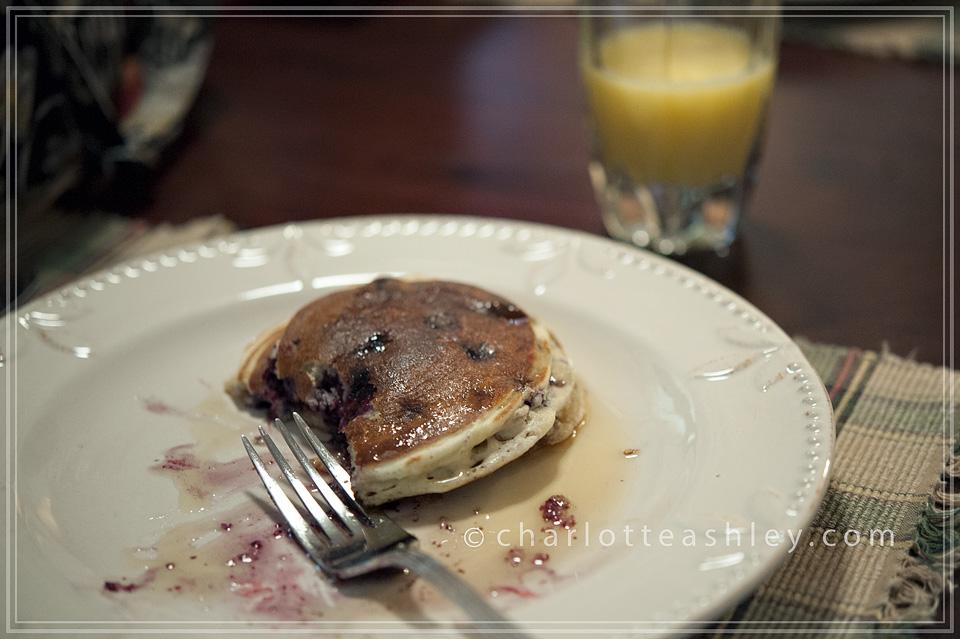 Huckleberry Pancakes, Libby, Montana