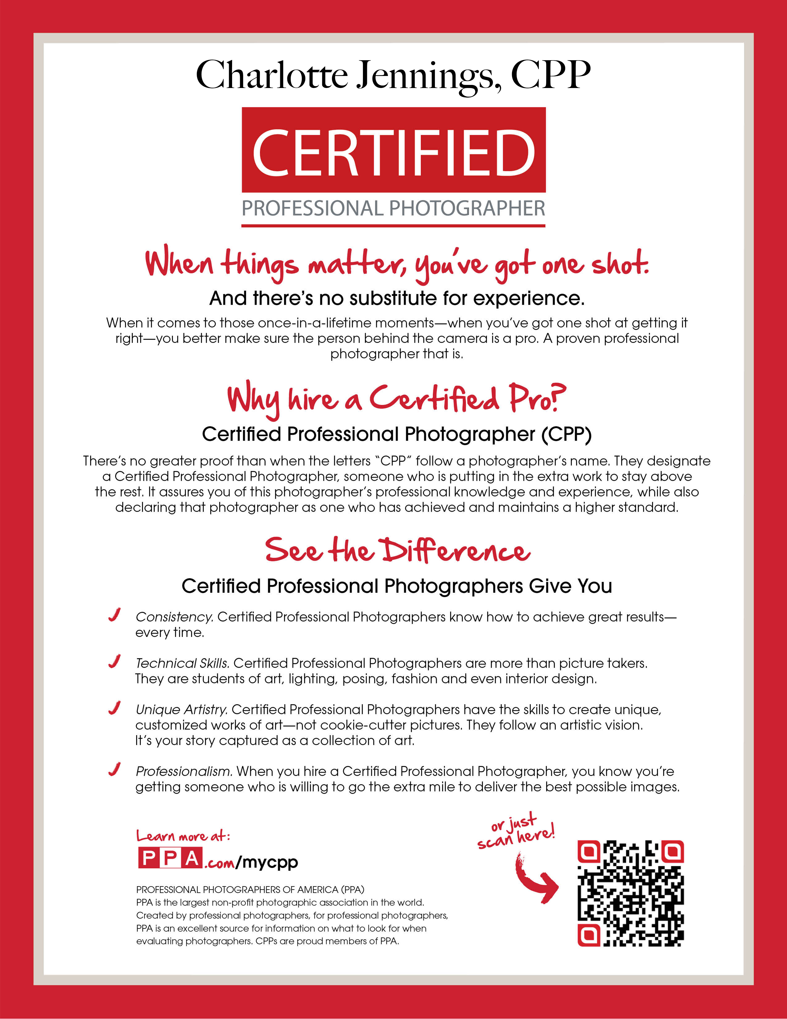 Certified Professional Photographer | Charlotte Ashley Photography