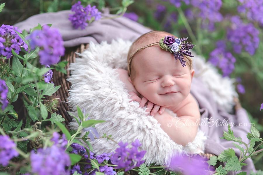 Anna   Lexington, SC Outdoor Newborn Photography